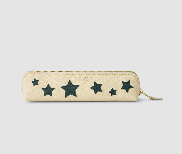 Pencil Case Stars - Beige