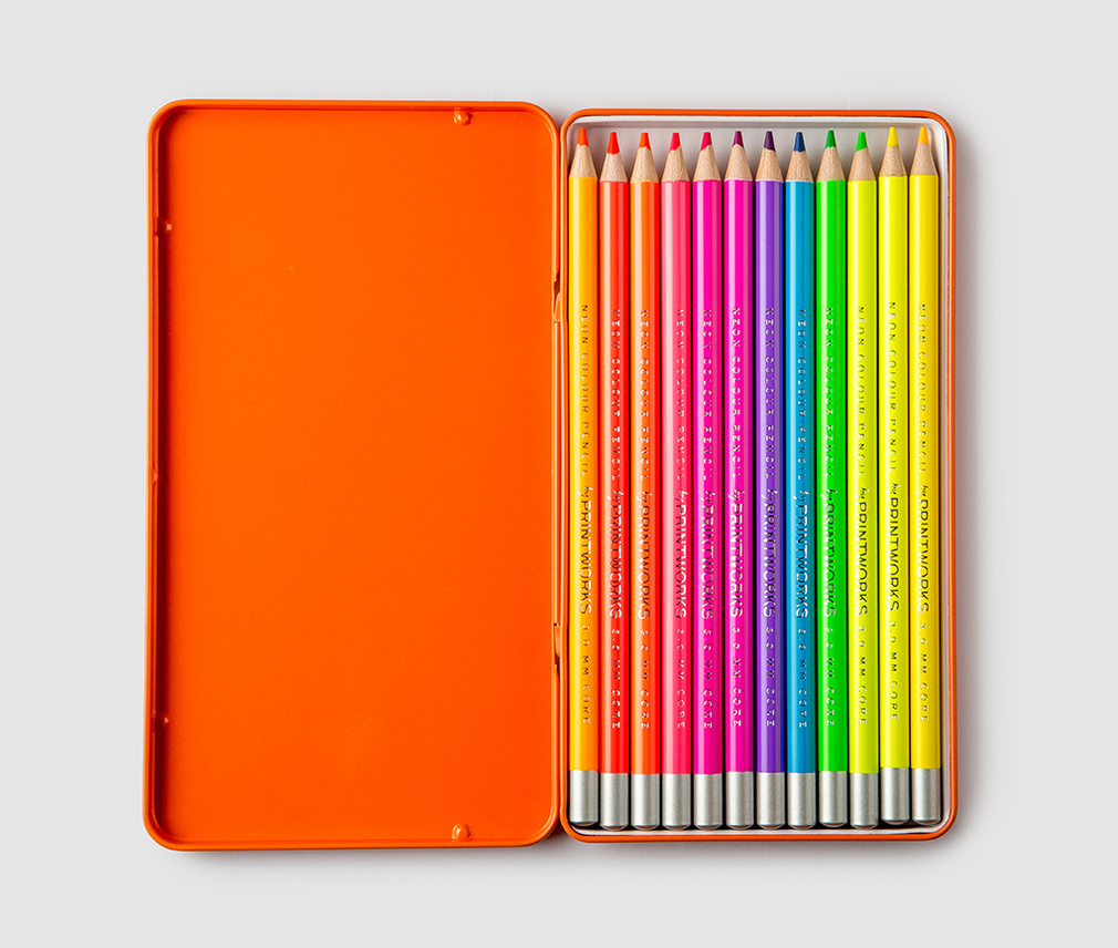 12 Neon Colour Pencils