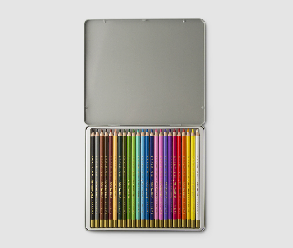 24 Colour pencils