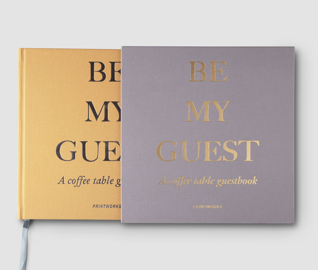 Guest Book - Beige/Yellow