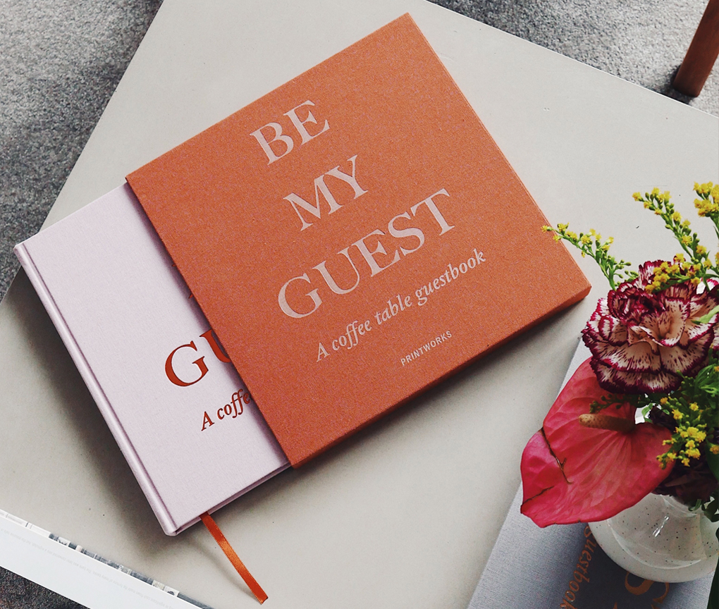 Guest Book - Rust/Pink