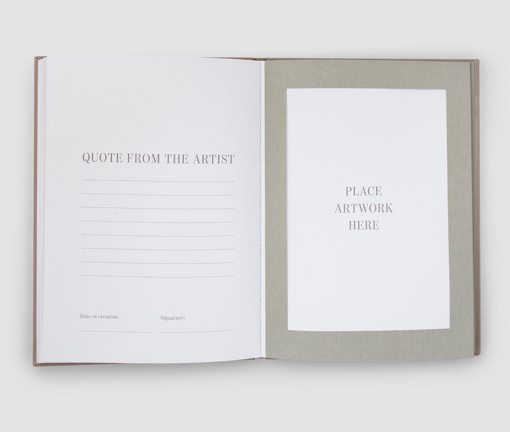 Frame book - Great Art, Beige