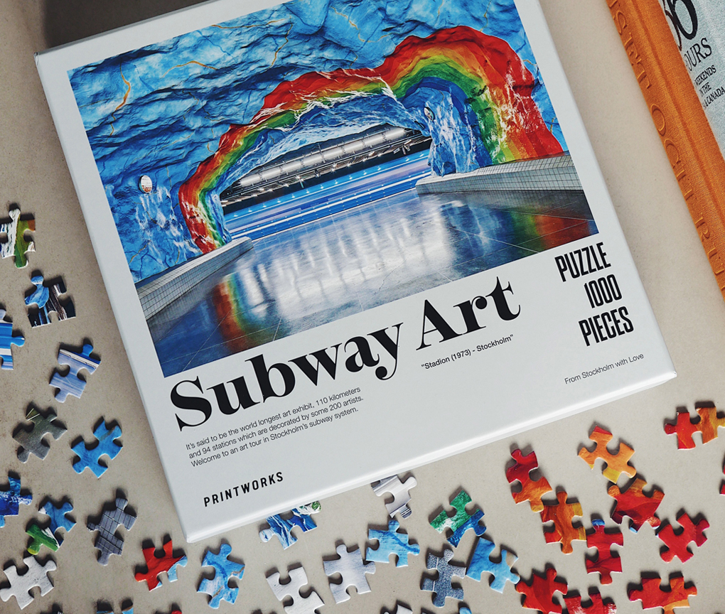 Pussel - Subway Art Rainbow