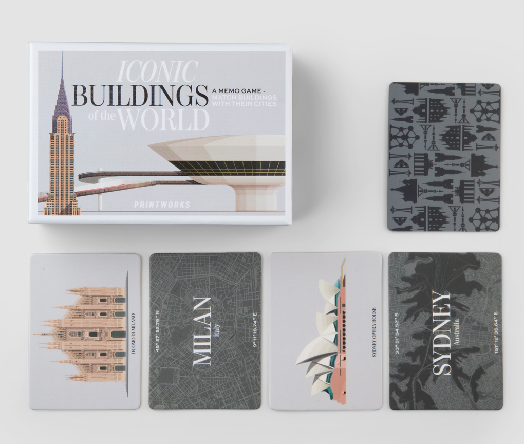 Memo spel - Iconic buildings