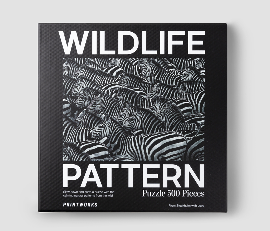 Pussel - Zebra, Wildlife Pattern