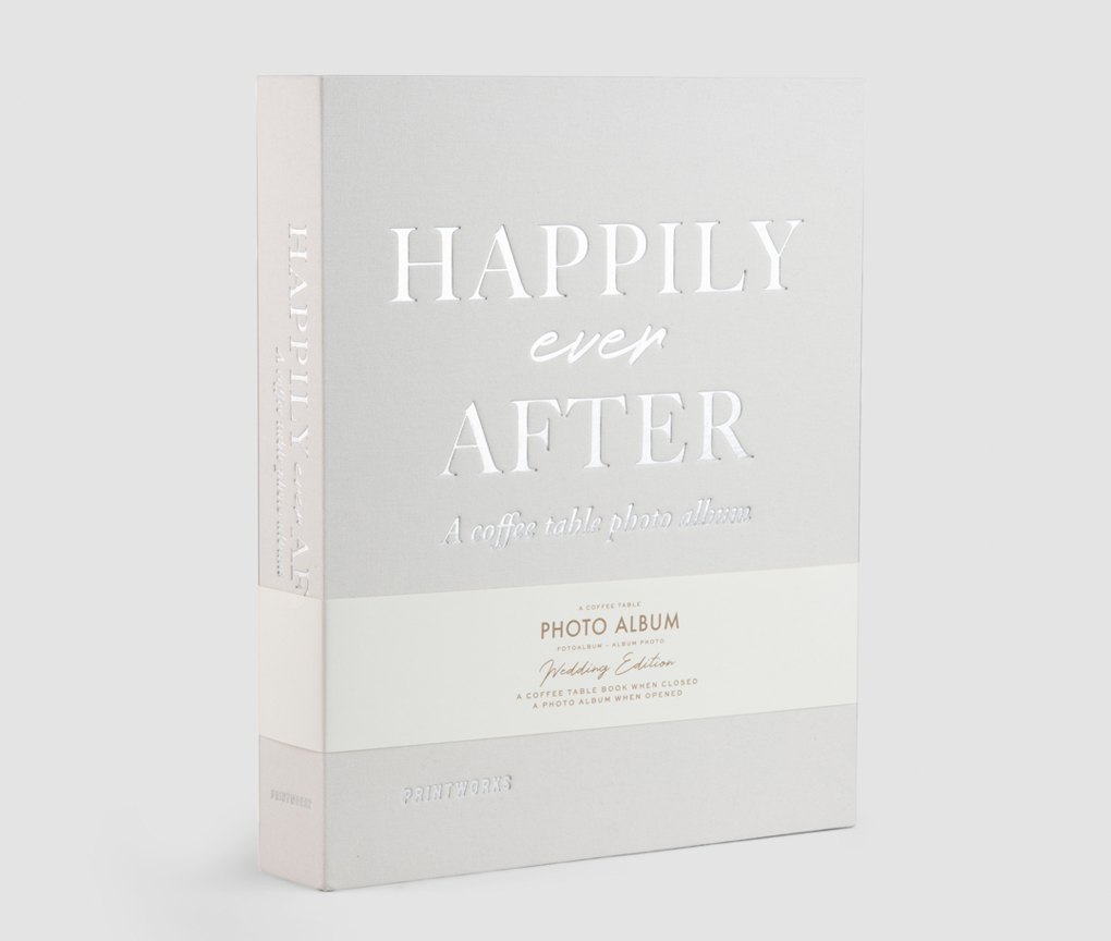 Wedding Photo Album - Happily Ever After (Ivory)