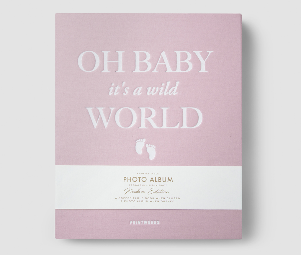 Photo Album - Oh Baby it's a Wild World (Pink)